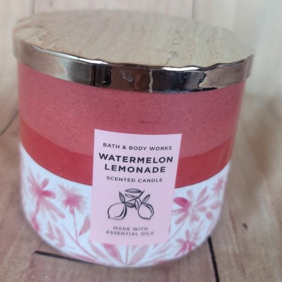 Bath And Body Works Watermelon Lemonade 3 Wick Candle